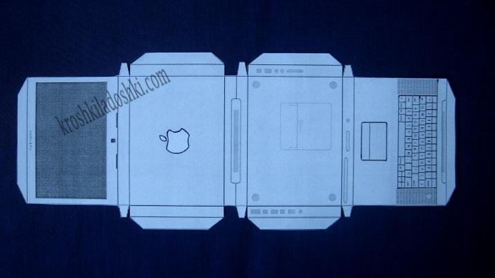 шаблон ноутбука из бумаги