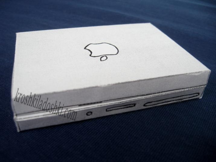 ноутбук из бумаги для кукол