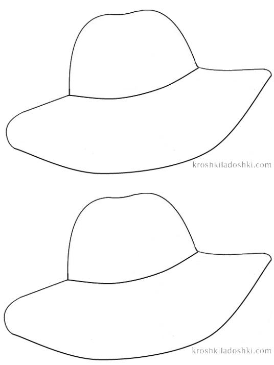 шаблон шляпы для аппликации