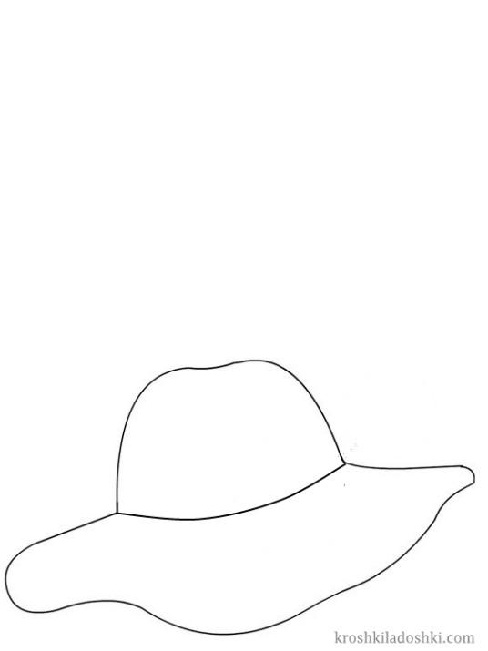 шляпка трафарет