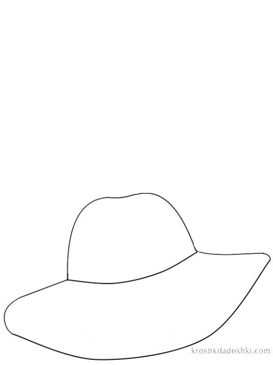 шляпа трафарет