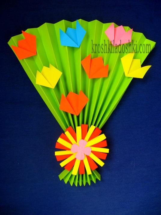 букет тюльпанов из бумаги своими руками