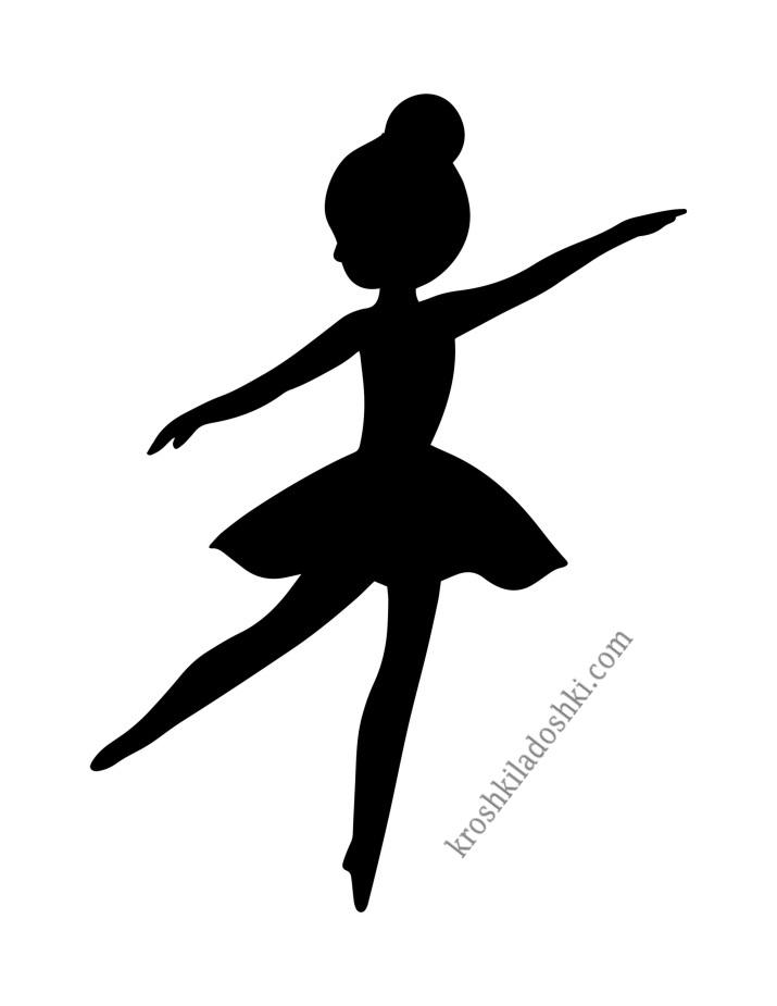 балерина из бумаги шаблон