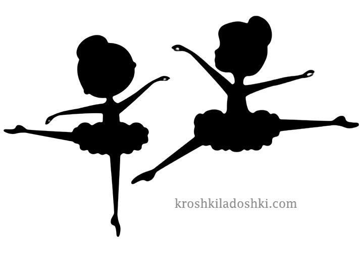 черные балерины шаблон