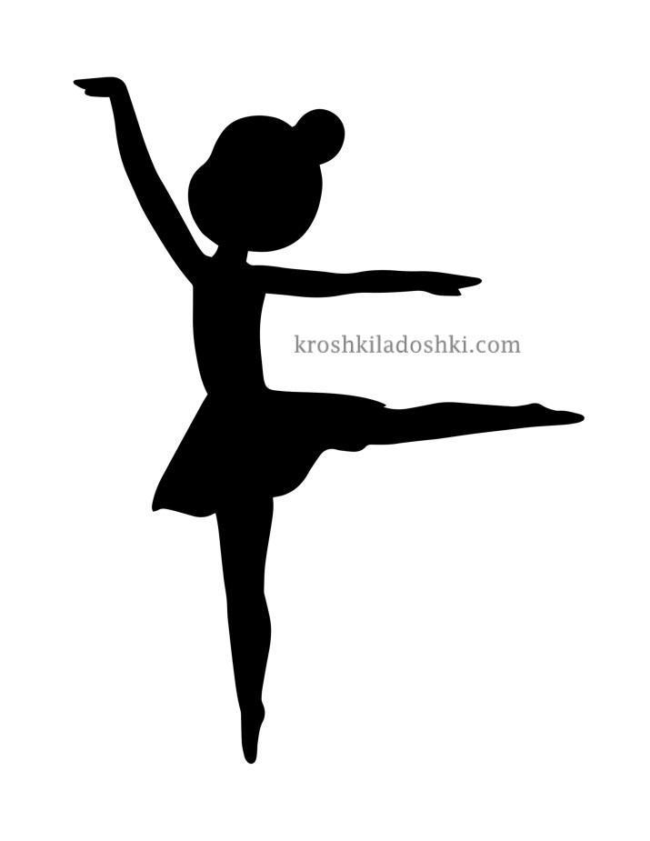 трафареты балерина шаблон