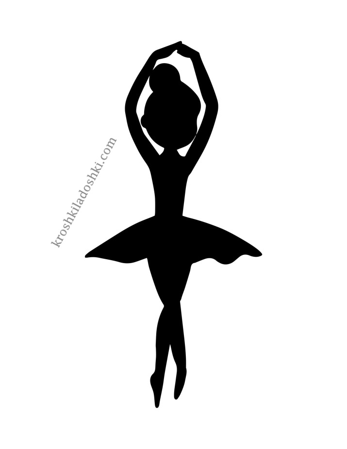 силуэты черных балерин