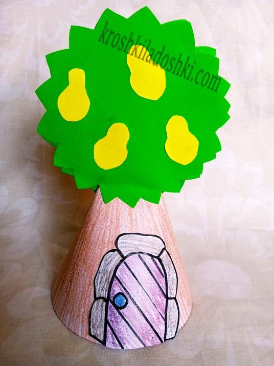 грушевле дерево аппликация из цветной бумаги