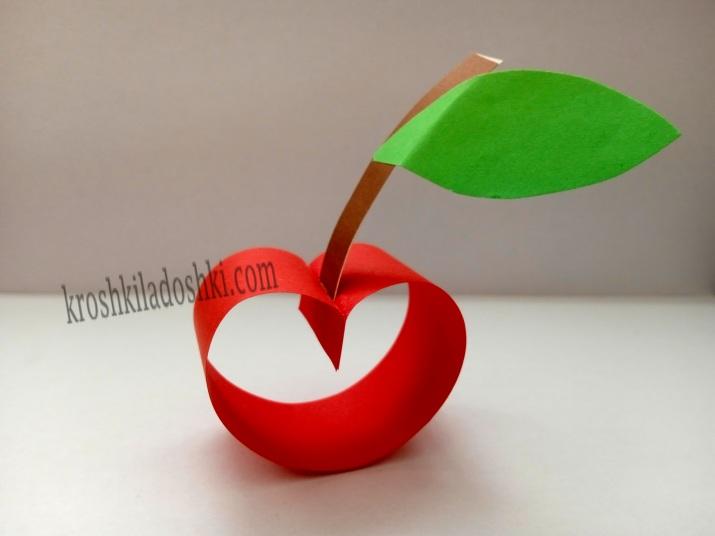 бумажное яблоко своими руками